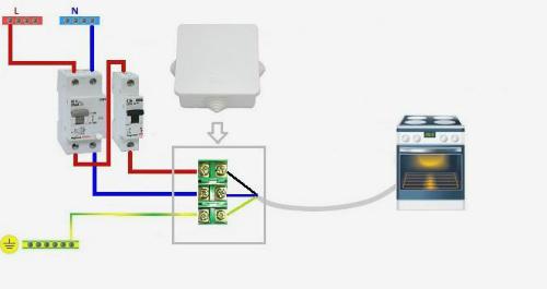 Схема подключения через клеммную коробку