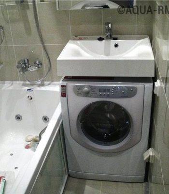 Что нужно знать для установки раковины над стиральной машиной