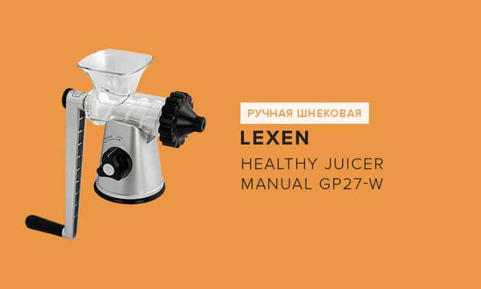 Lexen Healthy Juicer Manual GP27-W