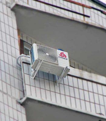 Установка кондиционера на балконе или лоджии