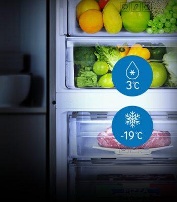 Какая оптимальная температура для холодильника и морозильной камеры