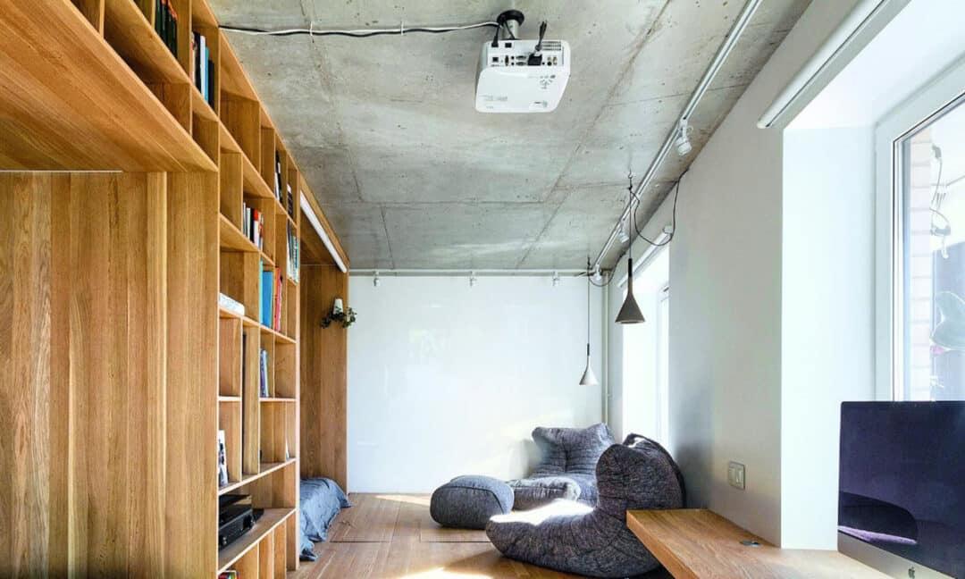 Установка проектора на потолке