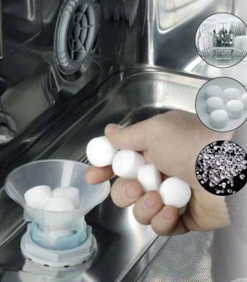Куда и сколько нужно засыпать соли в посудомоечную машину