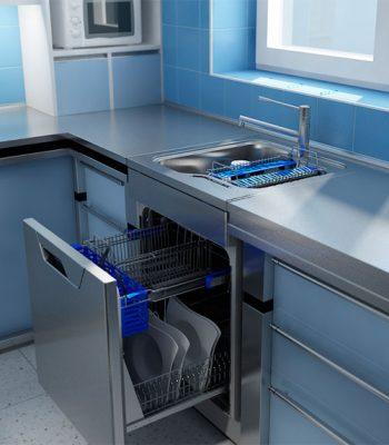 Компактная посудомоечная машина под раковину
