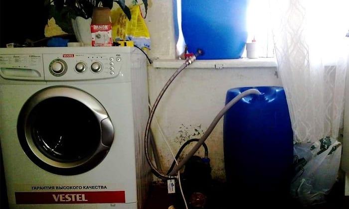 как подключить стиральную машину автомат без водопровода на даче