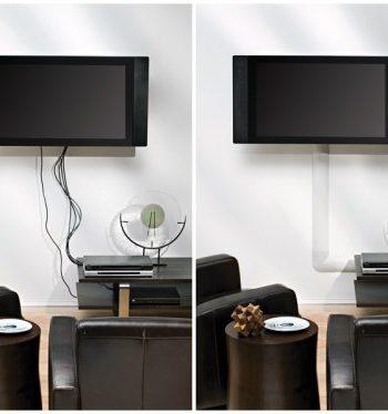 Маскировка и декорирование проводов от телевизора на стене