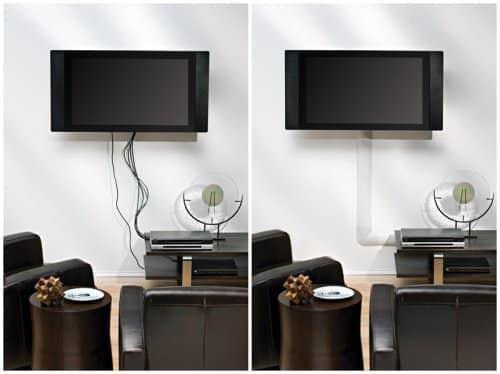 Как спрятать на стене провода от телевизора способы маскировки