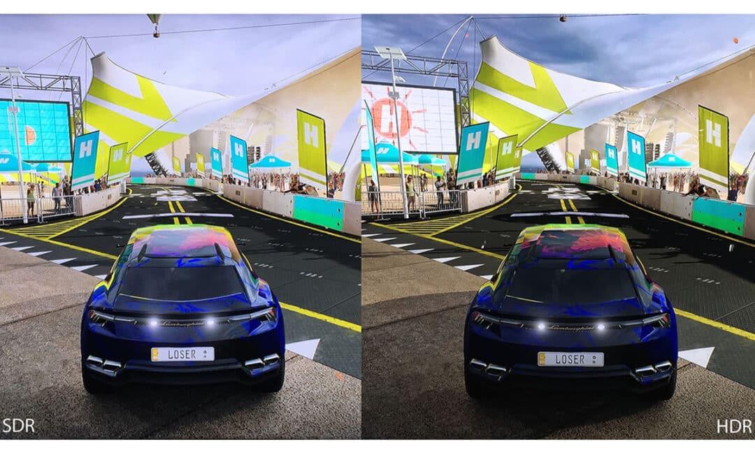 Сравнение 4k в играх с HDR и без