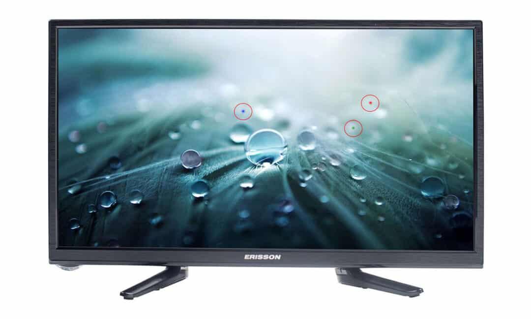 Цветные битые пиксели на экране телевизора