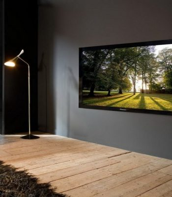 Высота установки телевизора на стену в гостиной, в спальне и на кухне